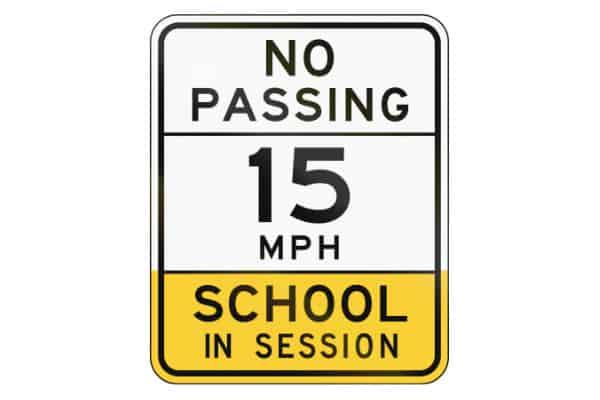 ADOT School Sign