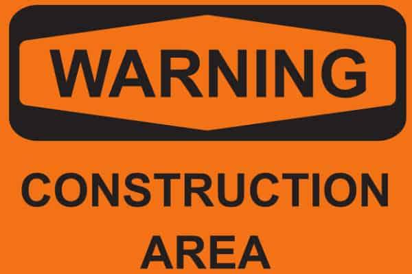 Warning Construction Area