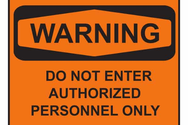 OSHA - Warning Do not enter - Authorized Personnel Only - Compliance Sign