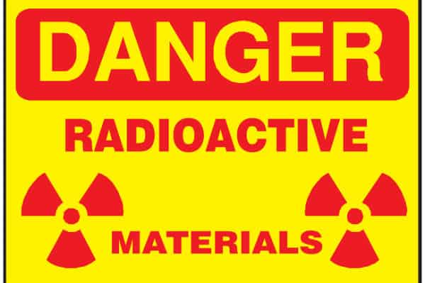 DANGER - Radioactive Materials - OSHA Compliance Sign
