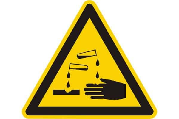 OSHA - Chemical Hazard Corrosive Material - Compliance Sign