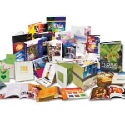 Digital printing collage of products