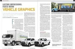 Image of Yellowstone Landscape featured in Fleet Owner magazine