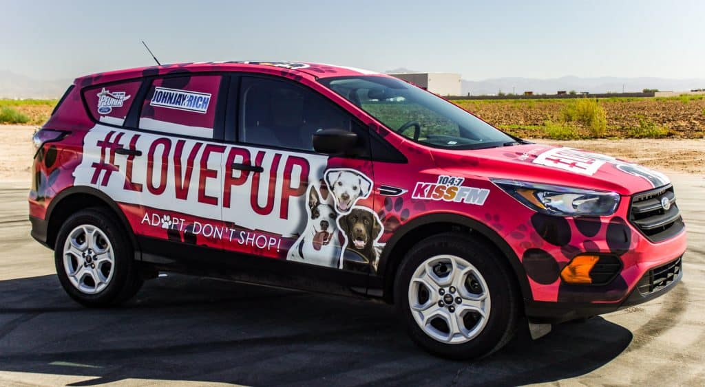 John Jay & Rich #LOVEPUP Car Wrap made by 2CT Media