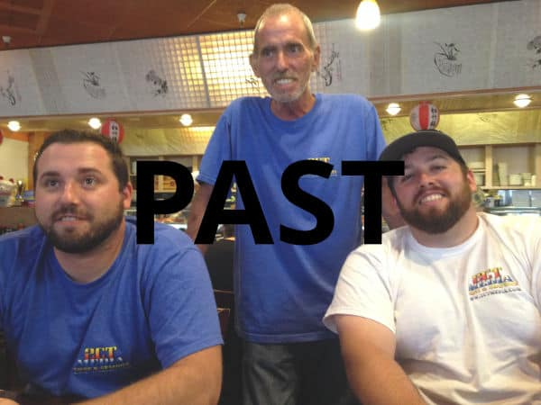 Christopher, Christian and Tyler at a Sushi Bar