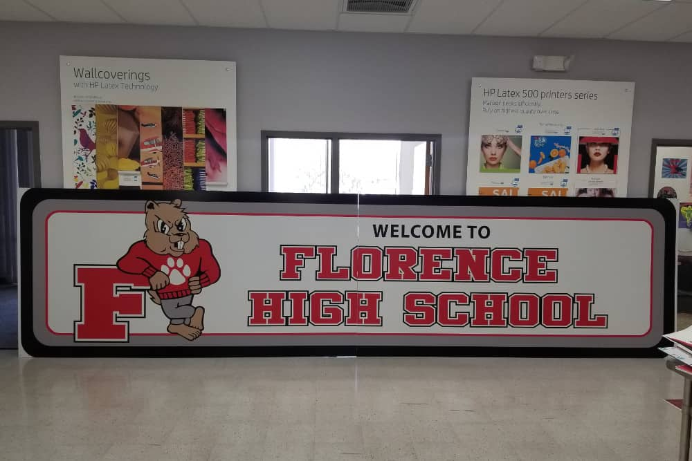 Florence High School sign