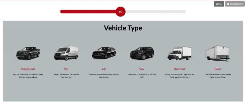 Vehicle Graphic Calculator Screenshot