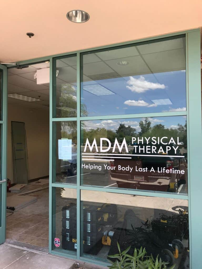 Window Graphics and Lettering - MDM Physical Therapy